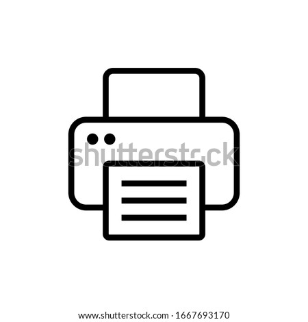 Print icon isolated on white background