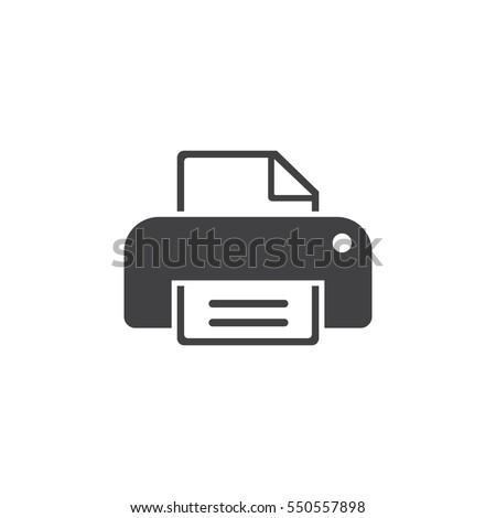 print icon on the white background
