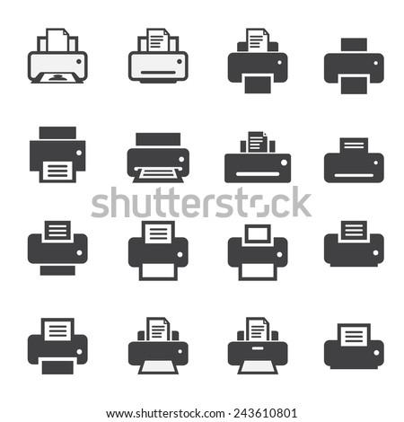 print  icon set