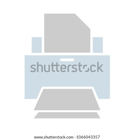 print icon, vector printer symbol - vector document printout icon