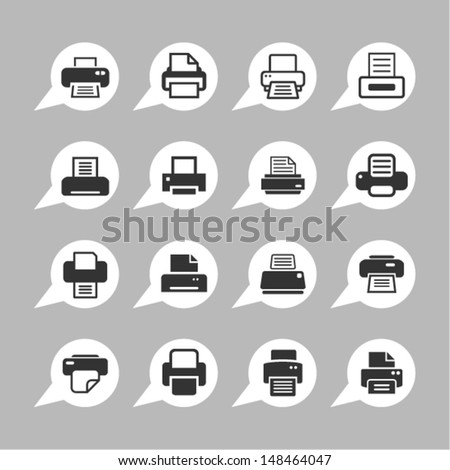 Print icons for web