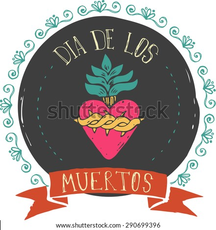print   mexican heart  day of