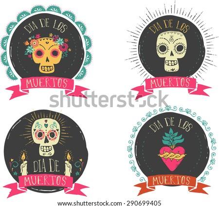 print   mexican sugar skull and