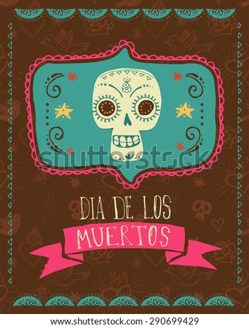 print   mexican sugar skull