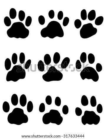 print of jaguar's paw  vector