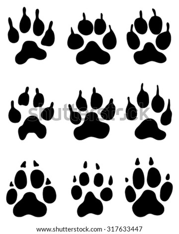 print of wolf's paw  vector