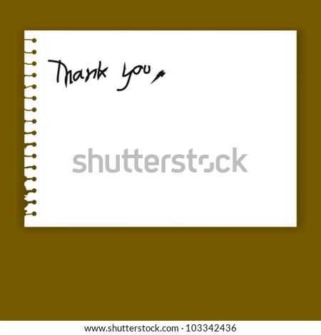Print..Old Torn Paper Vector with Thank You Word