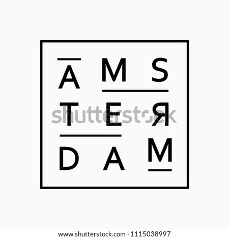 print on t-shirt, print on amsterdam theme, vintage design for clothes, vector image, flat style, grunge design, typography, original wear, sportswear, souvenir products, poster postcard