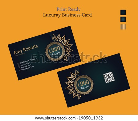 Print Ready Business Card Design In Adobe Illustrator CC EPS version 10