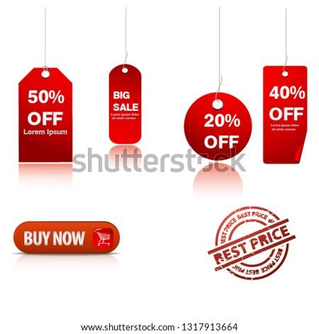 Print sale elements label stickers vector #1317913664