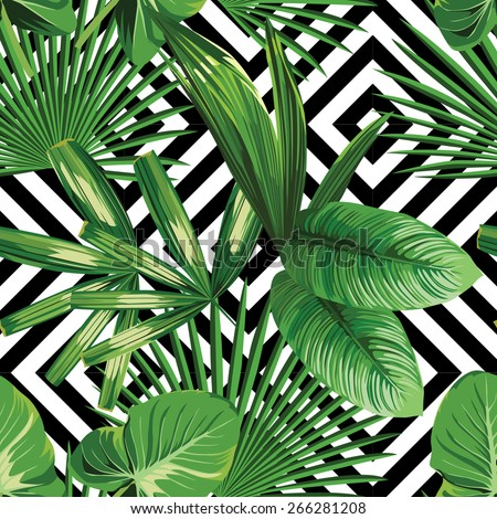 print summer exotic jungle