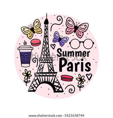 print summer paris with eiffel