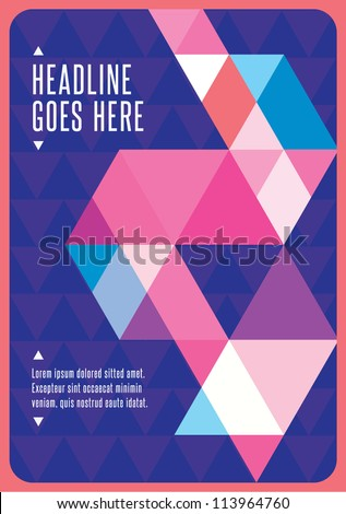 Print/ Vector Poster Design Template/ Layout Design/ Background/ Graphics/ Abstract web design