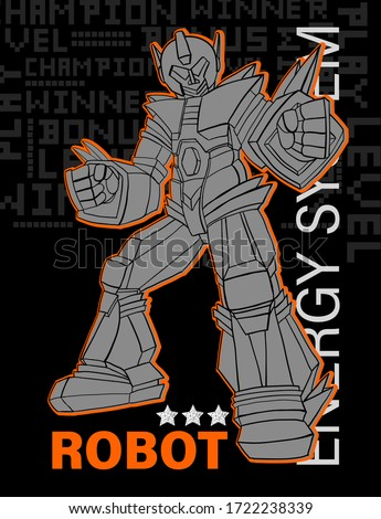 print with robot vector t