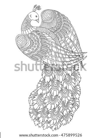 Royalty free Zentangle stylized koala Black white