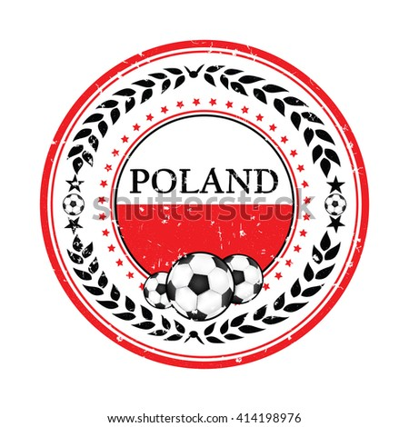 printable grunge poland soccer