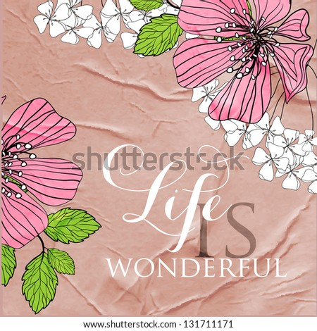 "Printable poster ""Life is wonderful "" #131711171"