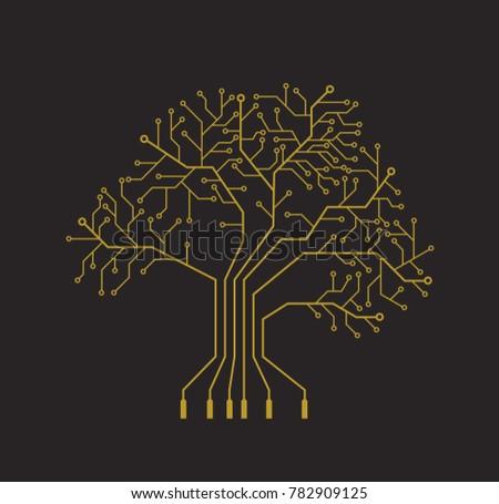 printed circuit like gold tree