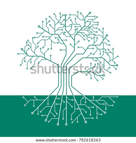 printed circuit like tree with