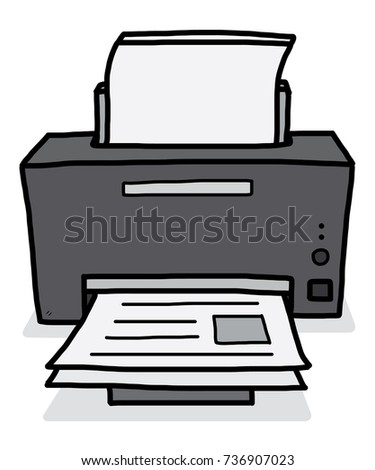 printer / cartoon vector and illustration, hand drawn style, isolated on white background.