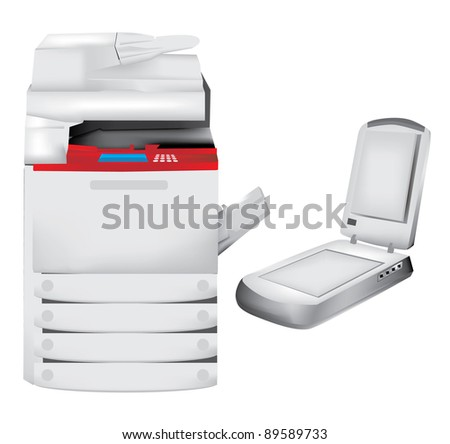 Printer, copier and scanner set