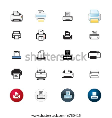 printer icon collection