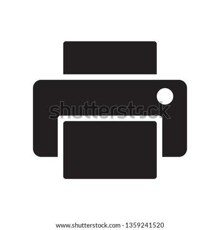 Printer icon in trendy glyph style design. Vector graphic illustration. Printer icon for website design, logo, app, and ui. Vector file. Pixel perfect. EPS 10.