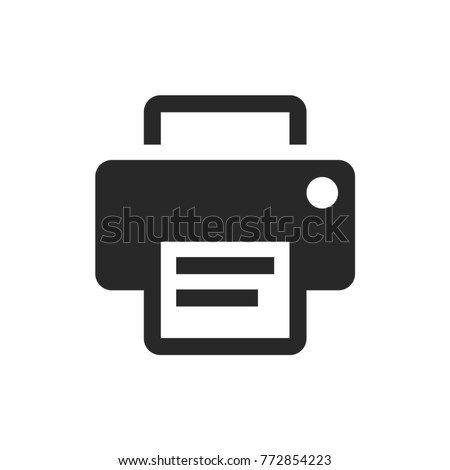 printer icon, multiedia vector, office icons eps 10