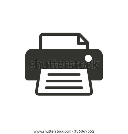 Printer  icon  on white background. Vector illustration.