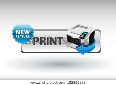 printer icon, print Button