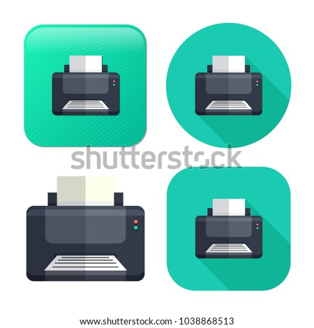 printer icon - print symbol - print paper or document sign