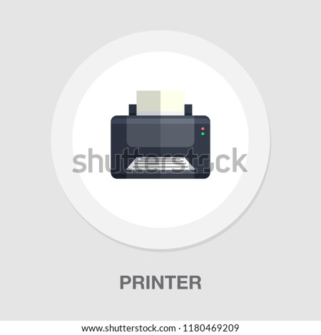 printer icon - print symbol - print paper or document sign