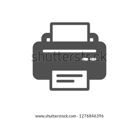 Printer icon. Printout Electronic Device sign. Office equipment symbol. Quality design element. Classic style icon. Vector