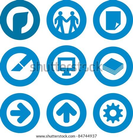 Printer icon set (vector)