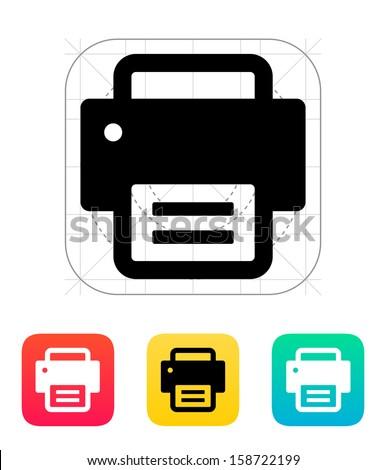 Printer icon. Vector illustration.