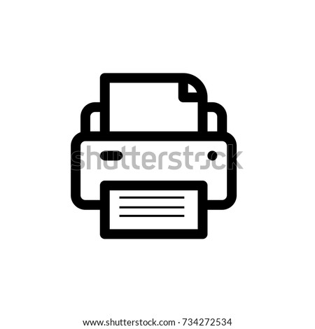 Printer icon,vector illustration. Flat design style. vector Printer icon illustration isolated on White background, Printer icon Eps10. Printer icons graphic design vector symbols