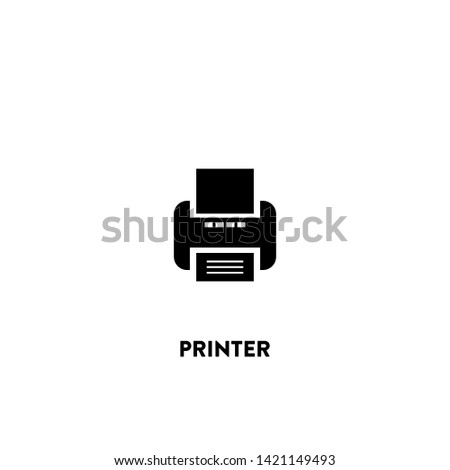 printer icon vector. printer sign on white background. printer icon for web and app