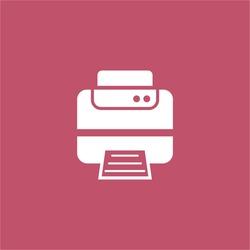 printer icon. vector sign symbol on white background