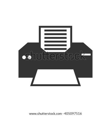 Printer icon vector, solid illustration, pictogram isolated on white