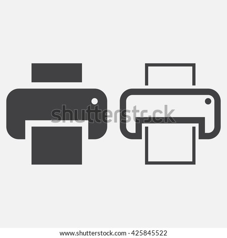 printer line icon, outline and solid vector logo, linear pictogram isolated on white, pixel perfect illustration