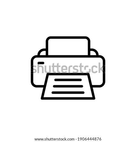 Printer line icon symbol vector illustration.  Photo stock ©