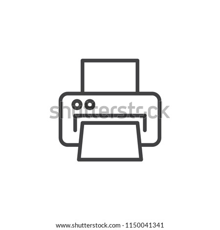 Printer outline icon. linear style sign for mobile concept and web design. Printing printer simple line vector icon. Symbol, logo illustration. Pixel perfect vector graphics