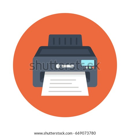 Printer Vector Flat Icons