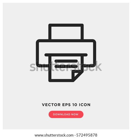 Printer vector icon, document printing symbol. Modern, simple flat vector illustration for web site or mobile app