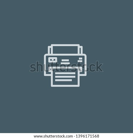 Printer vector icon. Printer concept stroke symbol design. Thin graphic elements vector illustration, outline pattern for your web site design, logo, UI. EPS 10.