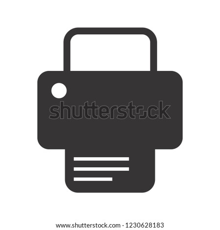 Printing Glyph black icon