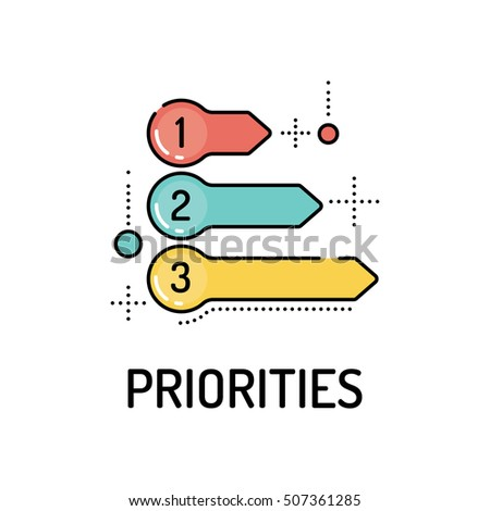 PRIORITIES Line icon