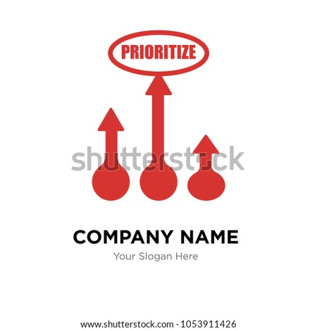 prioritize company logo design template, Business corporate vector icon