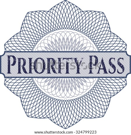 Priority Pass abstract rosette