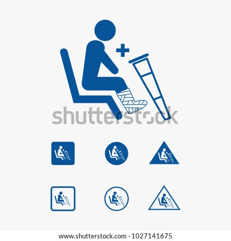 Priority seat icon illustration for physically handicapped.